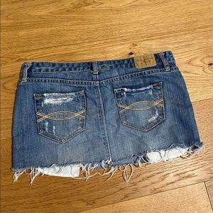 Abercrombie mini jean skirt